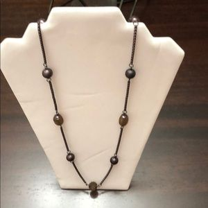 Ann Taylor Bronze Single Strand 18in Necklace